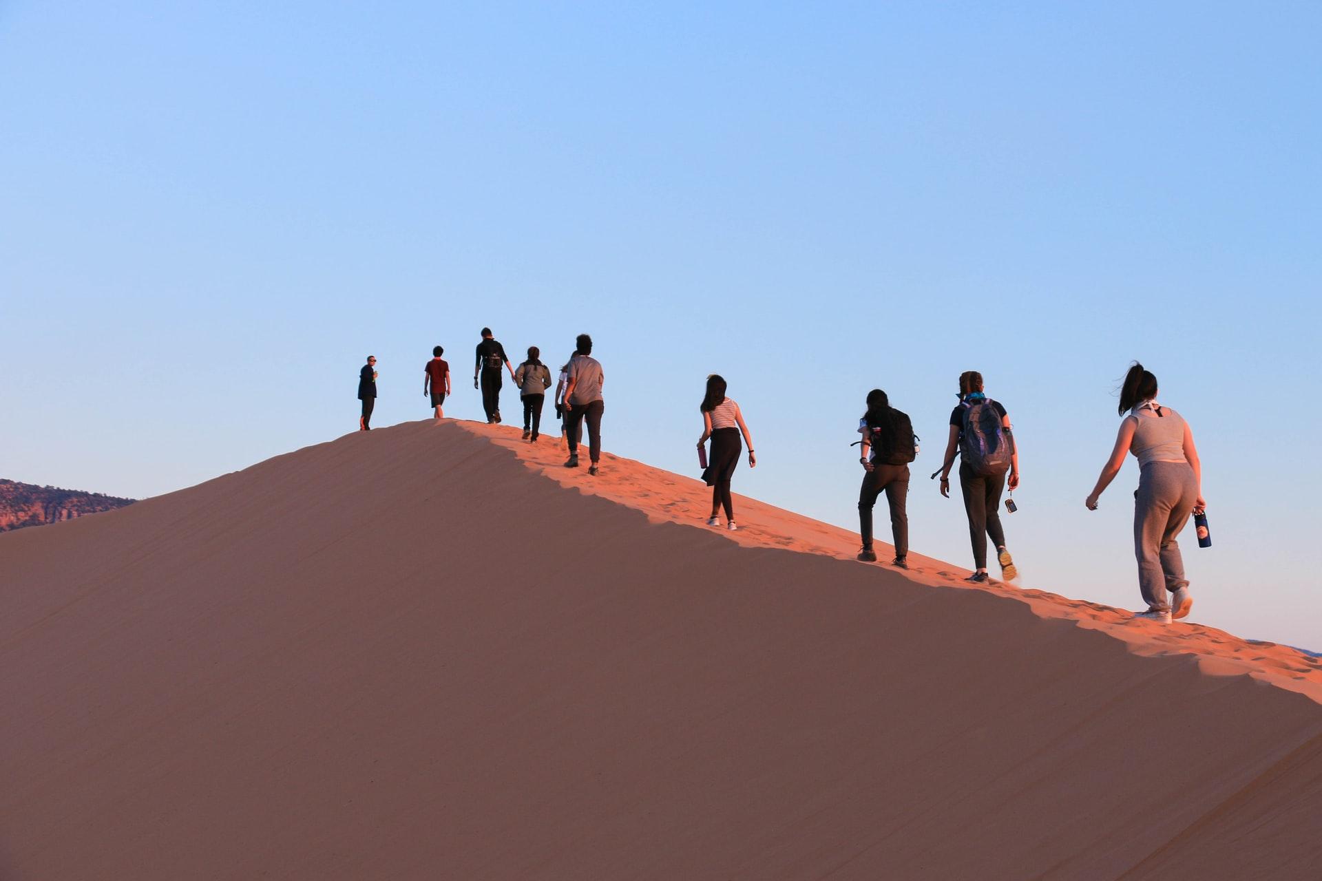 tourist on desert